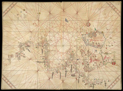 Portolan Chart of Western Europe Showing the British Isles f. 2